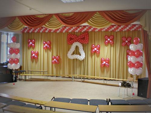 Украшения зала на выпускной